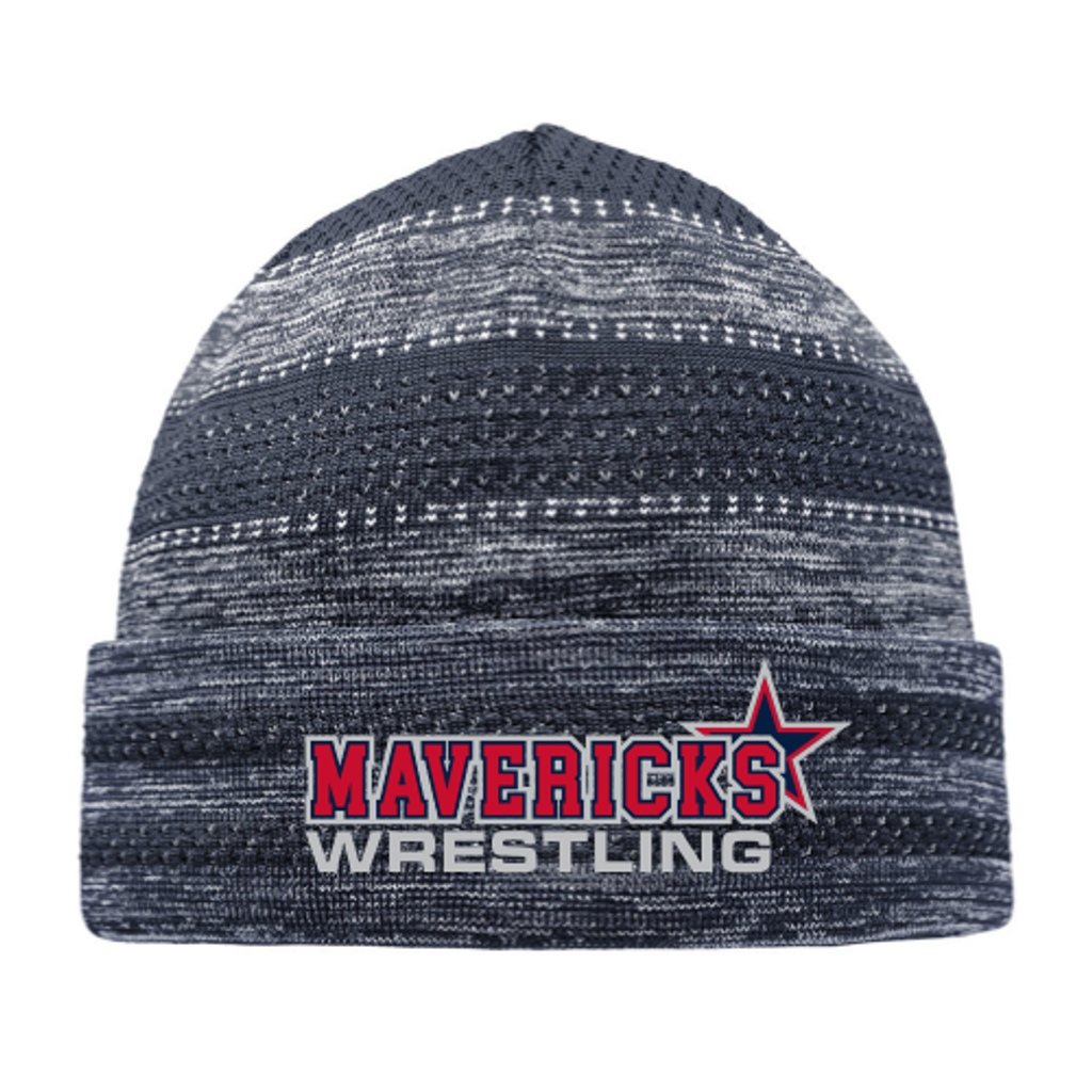 Mavericks Wrestling On-Field Knit Beanie, Navy