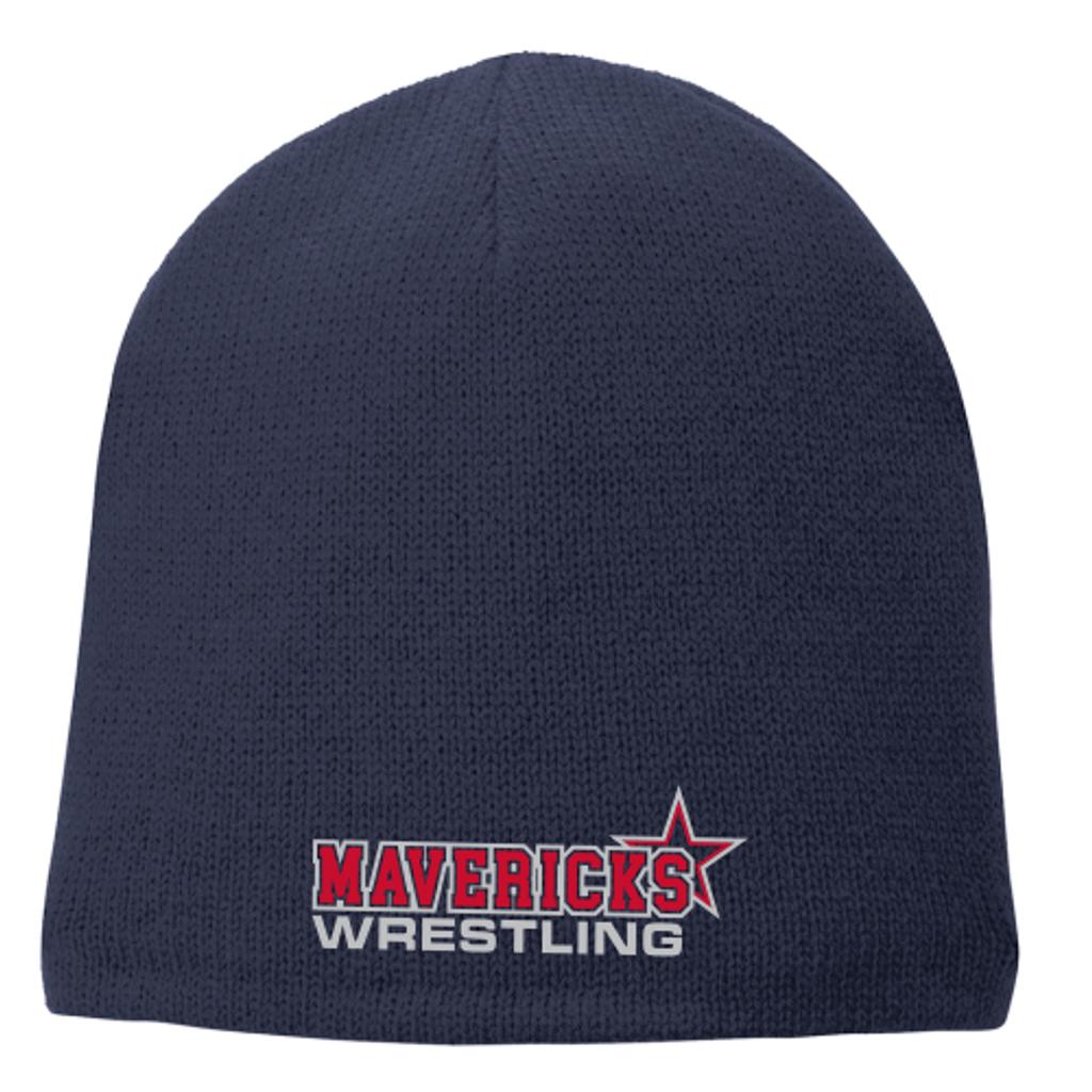 Mavericks Wrestling Fleece-Lined Beanie, Navy