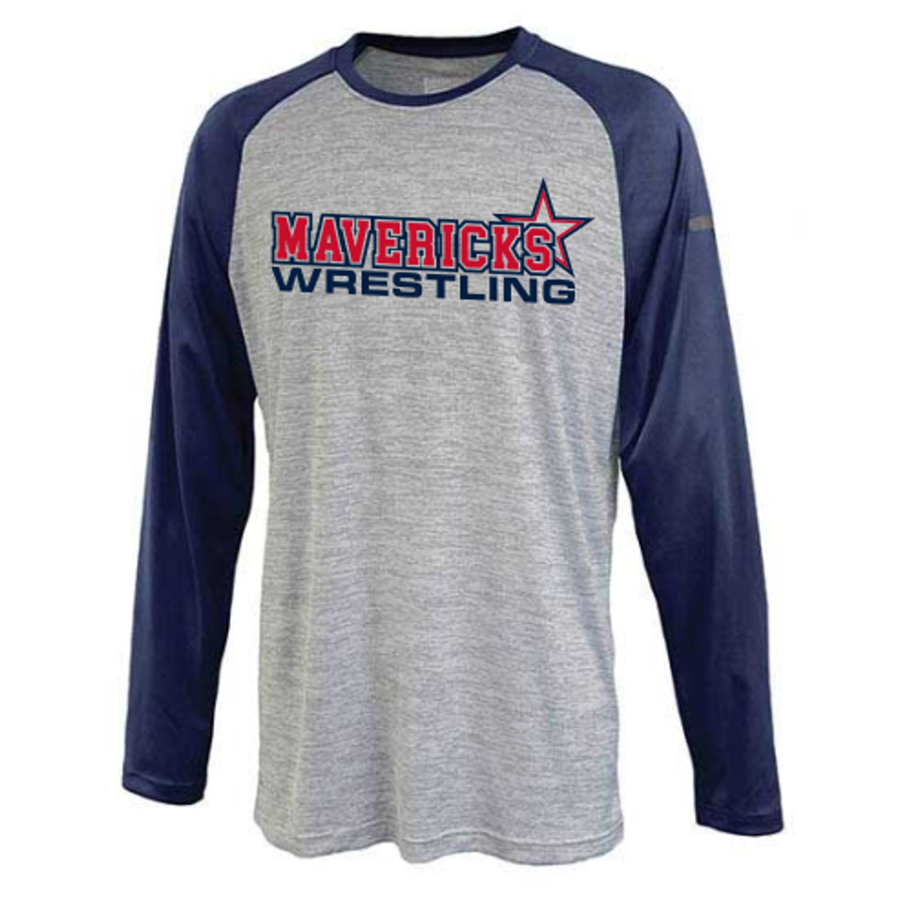 Mavericks Wrestling Long-Sleeve Raglan Performance Tee