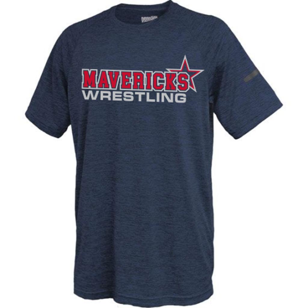 Mavericks Wrestling Performance Tee, Navy