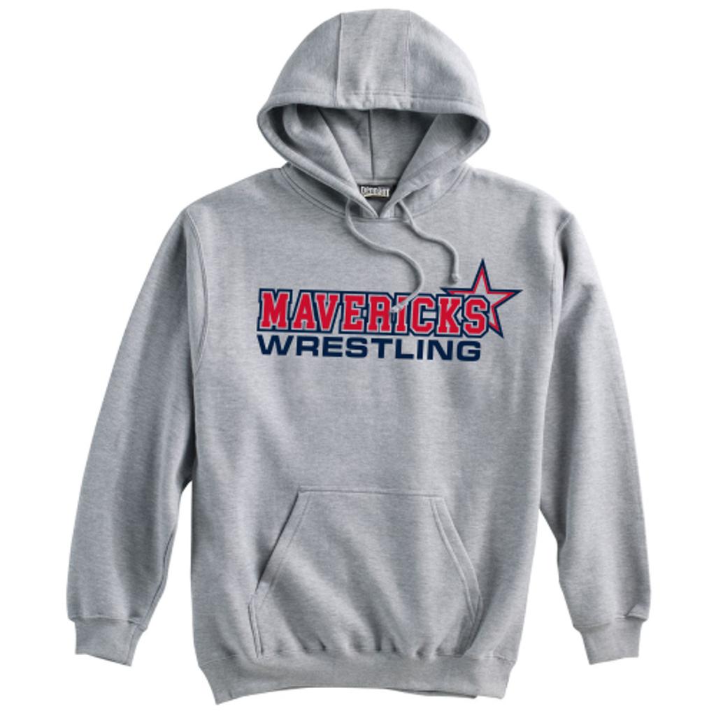 Mavericks Wrestling Hooded Sweatshirt, Gray