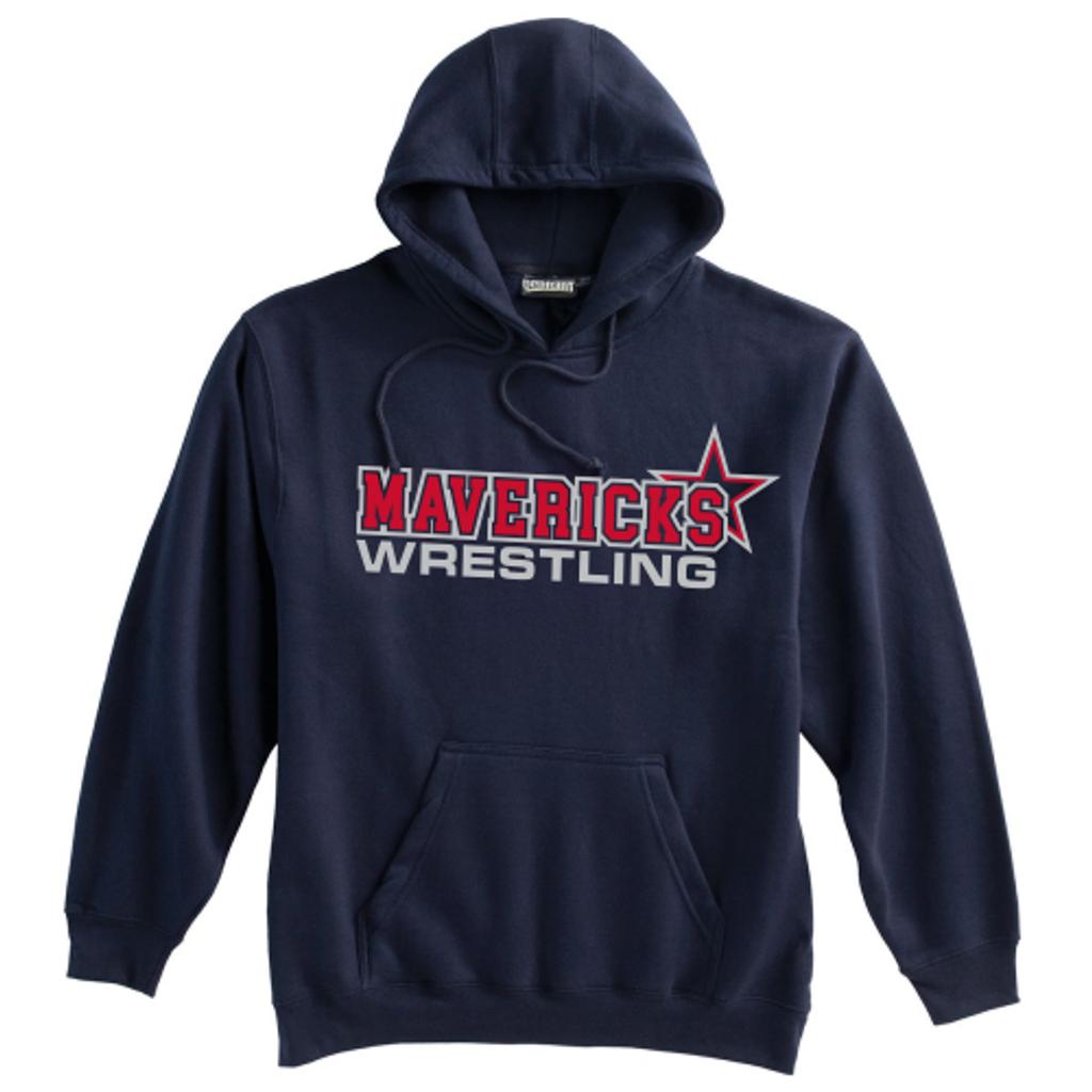 Mavericks Wrestling Hooded Sweatshirt, Navy