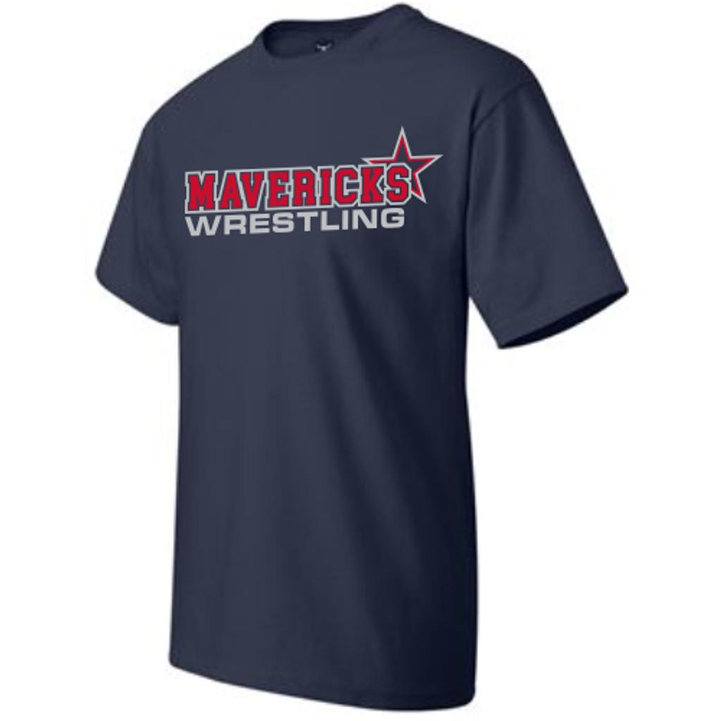 Mavericks Wrestling Tee, Navy