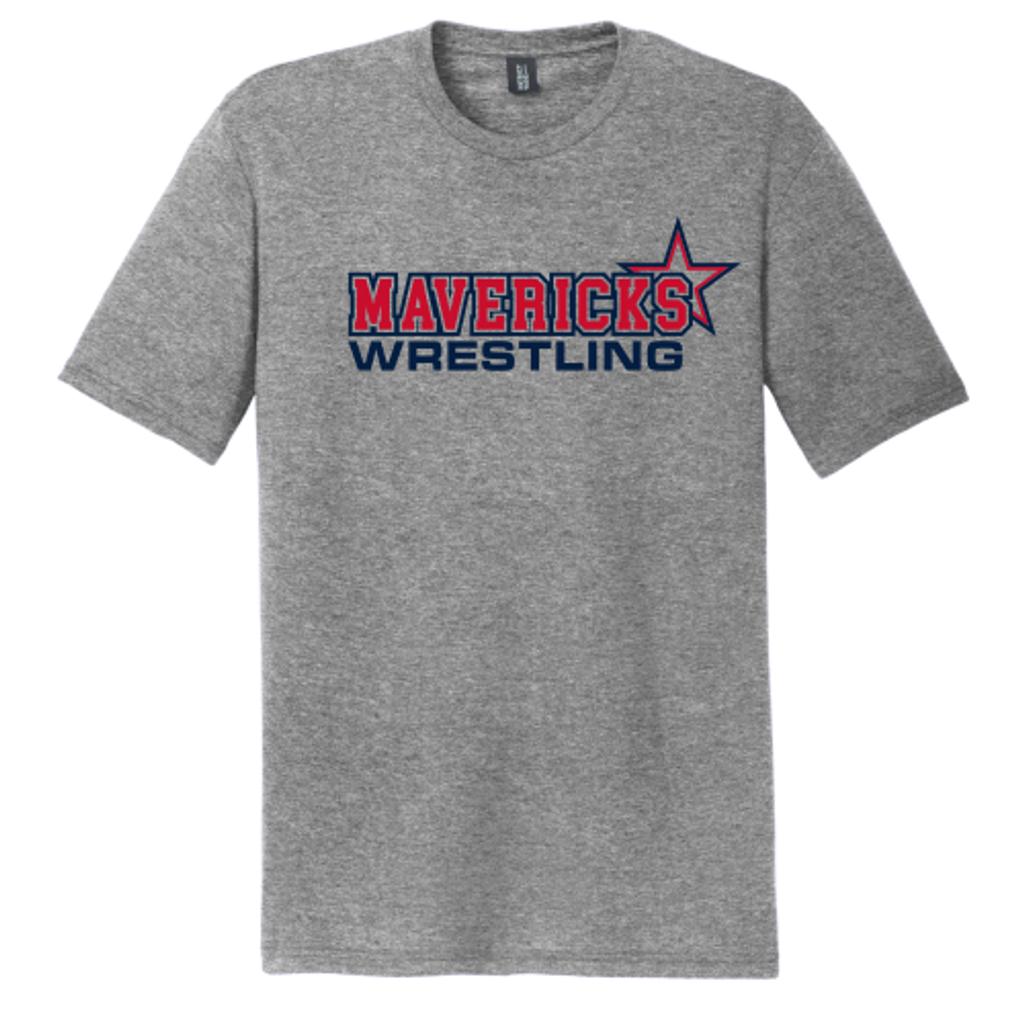 Mavericks Wrestling Triblend Tee, Gray