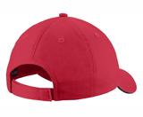 Rebels FH Twill Adjustable Baseball Hat, Red/Black