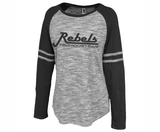 Rebels FH Ladies-Cut Space Dyed Tee, Gray/Black