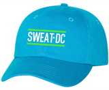 Sweat DC Adjustable Twill Cap, Neon Blue