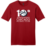 Chicago Netball Anniversary Tee, Red