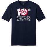 Chicago Netball  Anniversary Tee, Navy