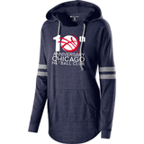 Chicago Netball Anniversary Ladies Tri-Blend Hooded Tee