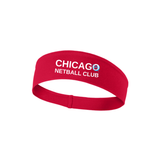 Chicago Netball Performance Headband, Red