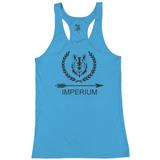 Imperium Ladies Racerback Tank, Carolina Blue