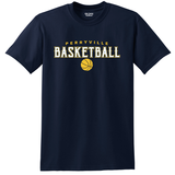 Perryville MS Basketball SHORT Sleeve Tee, Navy