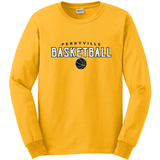 Perryville MS Basketball LONG Sleeve Tee, Gold