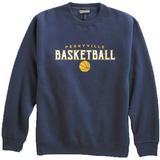 Perryville MS Basketball Crewneck Sweatshirt, Navy