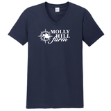 Molly Hill Farm V-Neck Ringspun Cotton Tee