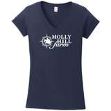 Molly Hill Farm V-Neck Ringspun Cotton Tee