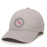 TMI Adjustable Twill Hat, Light Gray