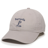 Perryville MS Adjustable Twill Hat, Light Gray