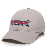 Mavericks Wrestling Adjustable Twill Hat, Light Gray