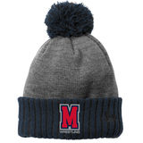 Mavericks Wrestling Colorblock Pom Beanie