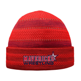 Mavericks Wrestling On-Field Knit Beanie, Scarlet