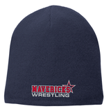 Mavericks Wrestling Fleece-Lined Beanie, Navy