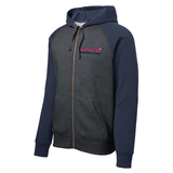 Mavericks Wrestling Full-Zip Colorblock Hoodie