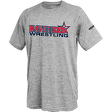 Mavericks Wrestling Performance Tee, Silver Gray