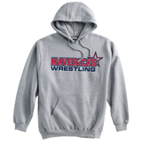 Mavericks Wrestling Hooded Sweatshirt, Gray