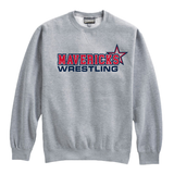Mavericks Wrestling Crewneck Sweatshirt, Gray