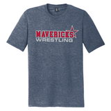 Mavericks Wrestling Triblend Tee, Navy