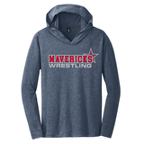 Mavericks Wrestling LS Hooded Tee, Navy