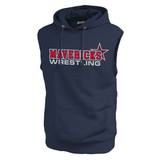 Mavericks Wrestling Sleeveless Hoodie, Navy