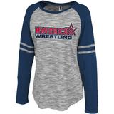 Mavericks Wrestling Ladies-Cut LS Tee