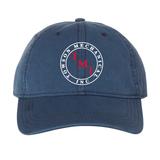 TMI Adjustable Cotton Canvas Hat, Blue