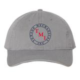 TMI Adjustable Cotton Canvas Hat, Grey