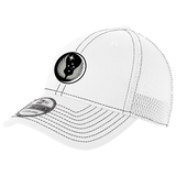 818 MSAS Mesh-Back FlexFit Hat, White/Black