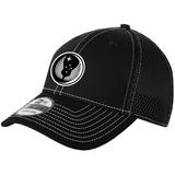 818 MSAS Mesh-Back FlexFit Hat, Black/White