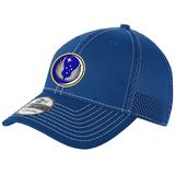 818 MSAS Mesh-Back FlexFit Hat, Royal/White