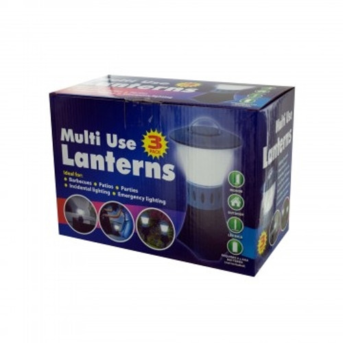 3-Piece LED Touch Lantern Garden Lights KOL8 OB956