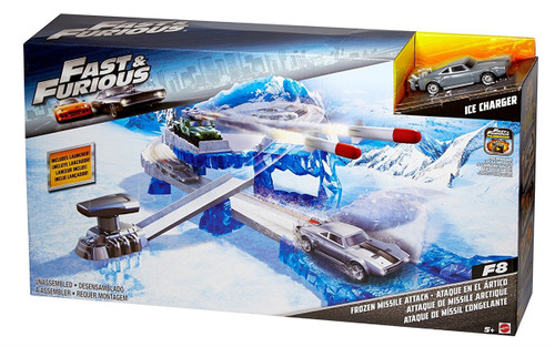 Fast & Furious Street Scenes Frozen Missile Attack Vehicle Playset Toy Kids WLM8 45689