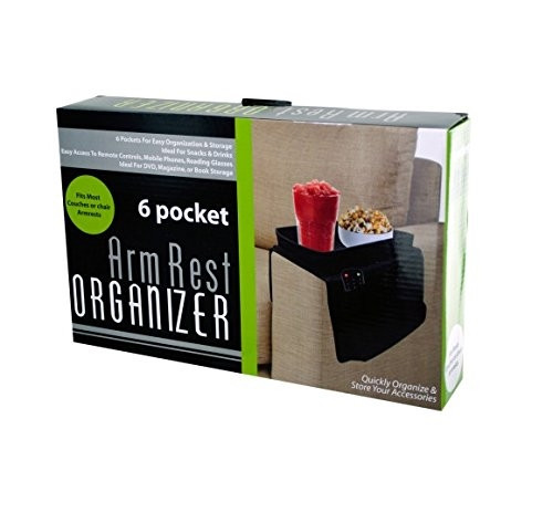 Arm Rest Organizer 6-Pocket with Table Top Black (OB950) KOL8 18568
