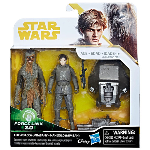 Star Wars Chewbacca & Han Solo Mimban - Force Link 2.0 Action Figures Toy Kids Collector WLM8 67733