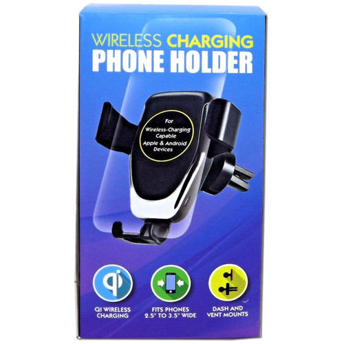Qi Wireless Car Mounted Phone Holder Charger Charging Android and Apple Compatible WLM8 56583