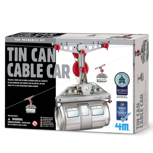4M Tin Can Cable Car Fun Mechanics Kit Educational Experiment Science Building Toy Hobby Kids  WLM8 24479/19643