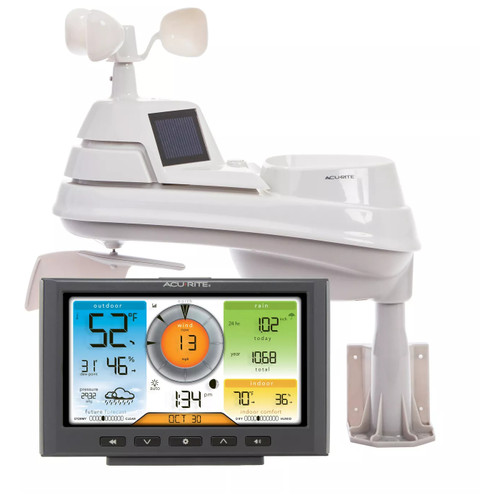 ACURITE 5 In 1 Weather Station Wireless Sensor Wi-Fi Connection Weather Uderground BJ8 701540