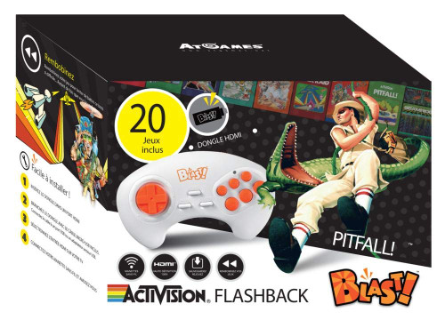 Activision Flashback Blast Pitfall Classic Retro Video Game Console Plug n Play Built-in 20 Games WLM8 700385