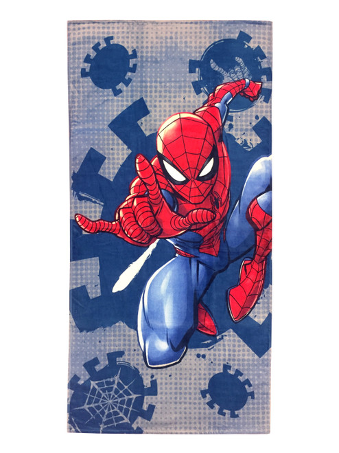 Marvel Spiderman Plunge Cotton 28 x 58 Beach Towel Soft Swimming Pool Bath Gift Kids Picnic Lake Sports WLM8 62206