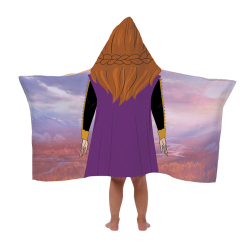 Disney Frozen II Anna 22 x 51 in Cotton HOODED Bath Towel Wrap Soft Beach Swimming Pool Gift Girls Kids Lake WLM8 68485